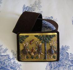 33774ff855b Articles similaires à ceinture cuir ceinture vintage vintage style hippie  style ceinture Alain Fourdraine ceinture cuir femme Boheme chic antiquityfrench  ...