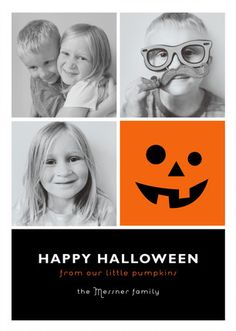 """Little Pumpkin Blocks"" Happy Halloween card design by Minted artist Jill Means. Enjoy luxe paper and printing, with customizable designs from our community of independent artists."
