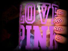 love pink water bottle