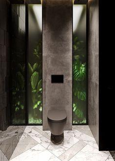 Gäste-WC Design A Stroke. Modern House Design, Modern Interior Design, Contemporary Interior, Modern Toilet Design, Interior Ideas, Interior Inspiration, Luxury Interior, Interior Architecture, Toilette Design