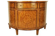 "Sunburst 52"" Demilune Cabinet, Russet Now: $3,199.00 Was: $3,999.00"