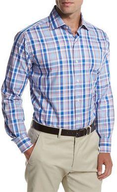Peter Millar Holiday Plaid Sport Shirt