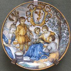 File:Castelli, francesco saverio di giovanni grue, piatto con paesaggio e stemma, 1740-1755 ca.JPG