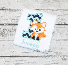 Fox Birthday Shirt, Woodland Birthday Party, Personalize with your child's age and favorite colors by thesimplyadorable on Etsy