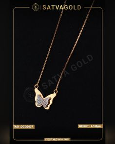 Graceful Butterfly Pendant is cutest piece from the whole collection. It has two layer attached to one another, the smaller one has gemstones encrusted and wide one is made of solid gold. This chain pendant is made of pure rose gold. . . #satvagold #gold #puregold #kada #ring #rakhi #rakhshabandhan #giftforsister #bracelet #explore #18ct #18k #22k #rosegold #yellowgold #hallmark #hallmarkjewellery #celebration #sister #diamond #gems #beautiful #goldjewellery #jewellerydesign Gold Ornaments, Butterfly Pendant, Chain Pendants, Sister Gifts, Pendant Set, Wholesale Jewelry, Solid Gold, Gold Jewelry, Rose Gold