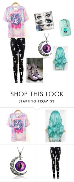 """""""Pastel goth"""" by lucyjanex0 ❤ liked on Polyvore featuring мода"""