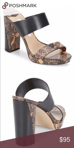 "Diane von Furstenberg Block Heel $328 Block heel, slip on, elasticized strap for a sure fit. Heel 4.25""; platform 3/4"". Brand new, comes  in box & dust bag. Very city chic! MSRP $328. ‼️Priced for a quick sale‼️No offers‼️ Diane von Furstenberg Shoes Sandals"