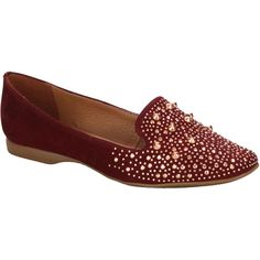 Slipper Bottero Bordô com Spikes #burgundy #shoes #flats #spikes