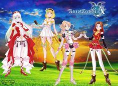 Tales of Zestiria: Lailah, Edna, Alisha, Rose