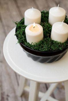 Advent Candles by Renáta Dobránska