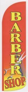 Barber shop super size swooper feather banner sign flag red