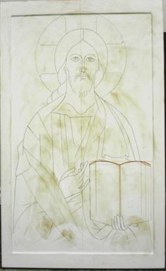 "The drawing of the ""Christ of Vladimir""--the dirtiness comes from the amount of…"