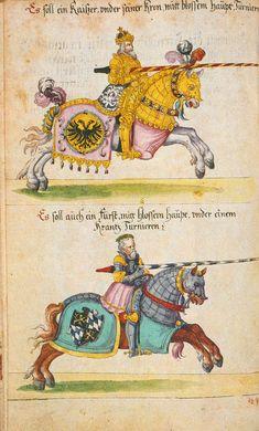 Kraichgauer Turnierbuch, Pommersfelden, Schlossbibliothek Hs. 123, Bl. 15v, ca. 1615 -- Presentation at: http://archiv.twoday.net/stories/96988341/