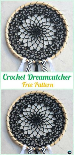 Crochet Dream Catcher & SunCatcher Free Patterns: A collection of crochet dream catchers, suncatchers, crochet rounds and mandalas.Cool Crochet Dreamcatcher Pattern - Coole Dromenvanger Haakpatroon (Bees and Appletrees) Catch these amzing free patter Crochet Mandala Pattern, Crochet Doilies, Crochet Patterns, Free Crochet Doily Patterns, Crochet Yarn, Crochet Ideas, Dreamcatchers, Yarn Projects, Crochet Projects