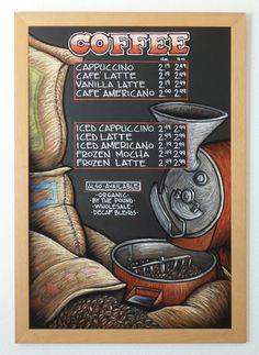 Chalkboard Art | Portfolio | The Drawing Board Signs - Phoenix, Arizona AZ