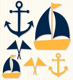 Nautical Baby Shower PRINTABLE Party Decals (INSTANT DOWNLOAD) by Love The Day via Etsy