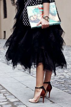 My dream everyday wear: tulle and rocking heels. Love it!