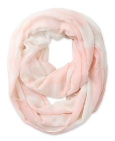 Corciova® Soft Color-blocking Abstract Totem Pattern Women's Infinity Scarf (Baby Pink)