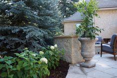 Mediterranean Courtyard and Bench | Denver, Colorado | by Prolithic Designs