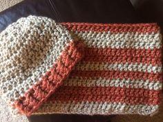 Chunky hat & cowl set // unisex // ready to ship by PennysCozyCrochet on Etsy