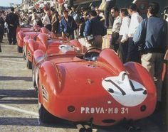 Tush - Testa Rosso line-up in the 1959 Le Mans 24H