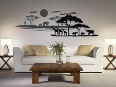 Design Idee: Für Eine Afrikanische Landschaft Mit 3D Effekt Einfach Zwei  Wandtattoos Hintereinander Anbringen
