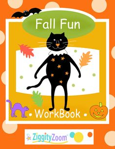 This Fall / Autumn Fun packet includes worksheets for tracing and cutting, counting, letter recognition, activities, Halloween pdf book pages. Fine motor skills practice for Pre-. Kindergarten Readiness, Math Literacy, Fun Math, Math Games, Halloween Letters, Halloween Fun, Halloween Printable, Preschool Worksheets, Preschool Activities