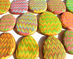 Marbled easter egg cookies