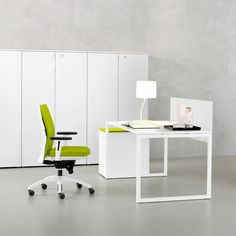 Frame high white office cabinet