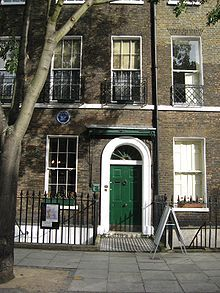 Home of Charles Dickens,  located at -----------48 Doughty Street in Holborn, London Borough of Camden, England.