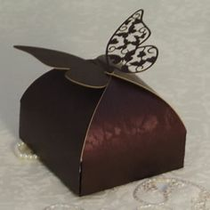 Laser Cut Vintage Butterfly Lace Favour Box (Pack of 5)