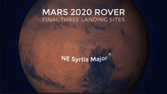 Landing Sites for 2020 Mars Rover: NASA Weighs 3 Options    https://spiritegg.com/landing-sites-for-2020-mars-rover-nasa-weighs-3-options/