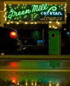 The Green Mill, a cocktail and jazz lounge in Chicago...& Al Capone's first Speakeasy, still going.