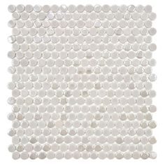SomerTile 11.25x12-in Posh Penny Round Ash Porcelain Mosaic Tile (Pack of 10) | Overstock™ Shopping - Big Discounts on Somertile Wall Tiles
