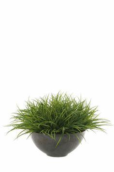 Sword Grass Bowl Silk Flower Arrangement