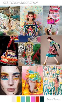 Salvation Mountain | PatternCurator | Style Color Palettes | Colour | Fashion Color Palettes | Mood Boards | Color Inspiration | Personal Style Online | Online Fashion Stylist | Fashion For Working Moms & Mompreneurs