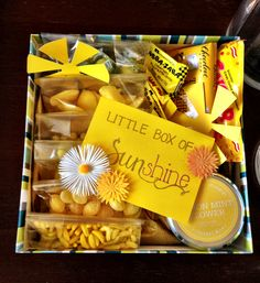 Sunshine in a box- My favorite color!