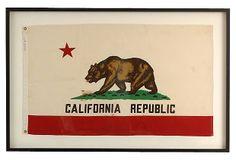 Framed California Republic Flag on OneKingsLane.com