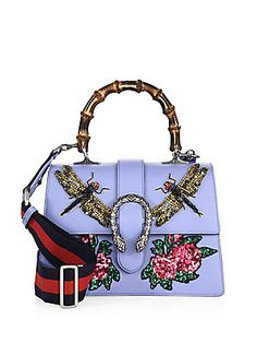 Gucci Medium Dionysus Embroidered Leather Top-Handle Bag