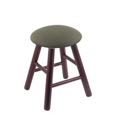 Holland Oak Vanity Stool with Fabric Seat Axis Grove - RC18OSMEDAXSGRV