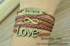 Believe bracelet  Love bracelet  Infinity bracelet  by Richardwu, $5.99