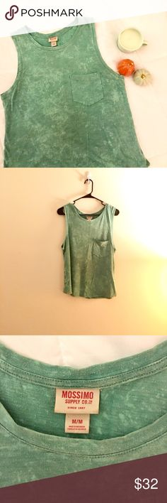 Mossimo Mint Green Tank Vintage tank with pocket. Only worn a couple times & in great condition. In a mint green/turquoise color. Mossimo Supply Co Tops Tank Tops