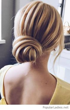 Chic low bun style