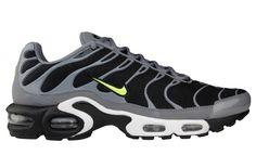 Nike Air Max Plus (Tuned 1) | Black, Cool Grey & Volt
