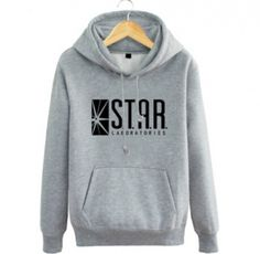 The flash  pullover sweatshirts S.T.A.R Labs black hoodie