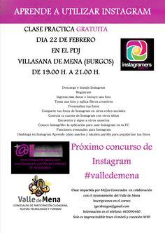 Villasana de Mena 22/02 Clase Practica: Aprende a utilizar Instagram  19:00h -21:00h #Merindades