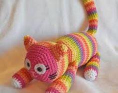 Amigurumi Eloise the Striped Cat pattern by Ida Herter Crochet Cat Toys, Crochet Patterns Amigurumi, Crochet For Kids, Crochet Animals, Crochet Crafts, Crochet Dolls, Crochet Baby, Knit Crochet, Yarn Projects
