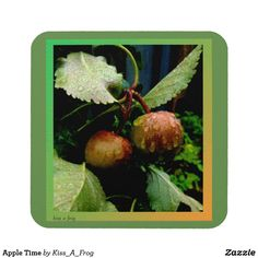 Shop Apple Time Coaster created by Kiss_A_Frog. Beer Mats, Cool Mugs, Drink Coasters, Drinks, Design, Home Decor, Drinking, Beverages, Decoration Home