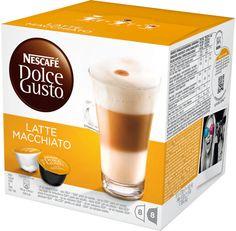 Con un semplice gesto potrai preparare un latte macchiato dalla schiuma perfetta e dal gusto equilibrato  In ogni confezione da 16 troverai 8 capsule di caffè e 8 di latte intero in polvere, per preparare 8 tazze