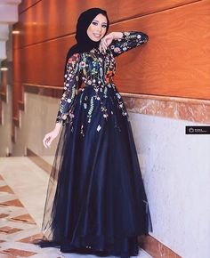 Hijab Evening Dress, Hijab Dress Party, Hijab Style Dress, Hijab Wedding Dresses, Hijab Outfit, Evening Dresses, Wedding Abaya, Islamic Fashion, Muslim Fashion
